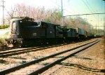 CR 4821 on freight CE-4 piggyback train